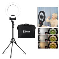 """Ktaxon 12"""" 180pcs LED Ring Light Dimmable 5500K Lighting Video Continuous Light Stand Kit White Black Pink Optional"""