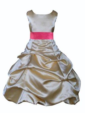 Ekidsbridal Formal Satin Gold Flower Girl Dress Christmas Bridesmaid Wedding Pageant Toddler Recital Easter Holiday Communion Birthday Baptism Occasions 2 4 6 8 10 12 14 16 806s mercury grey size 6