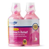 Equate Regular Strength Stomach Relief Liquid, 525 mg, 16 Oz, 2 Pk