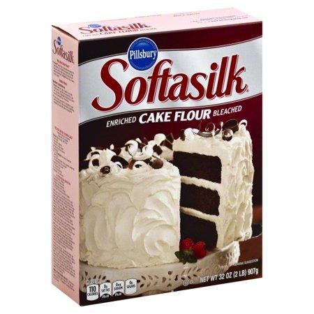 (3 Pack) Pillsbury Softasilk: Enriched Bleached Cake Flour, 32 (Down Cake Flour)
