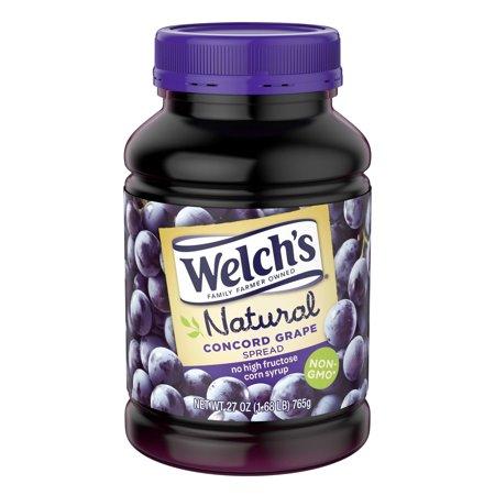 Grape Jam Jelly (Welch's Natural Concord Grape Spread, 27 oz )