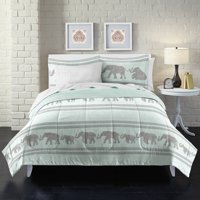 Loft Style Boho Elephant Bed In A Bag Comforter Set,Blue