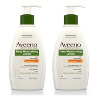 (2 pack) Aveeno Daily Moisturizing Body Lotion With SPF 15, 12 Fl. Oz