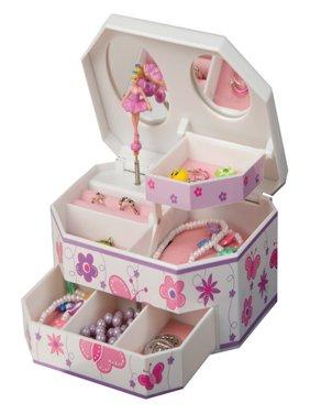 Mele & Co. Kelsey Glitter-Fly Musical Dancing Ballerina Jewelry Box - 7W x 3H in.