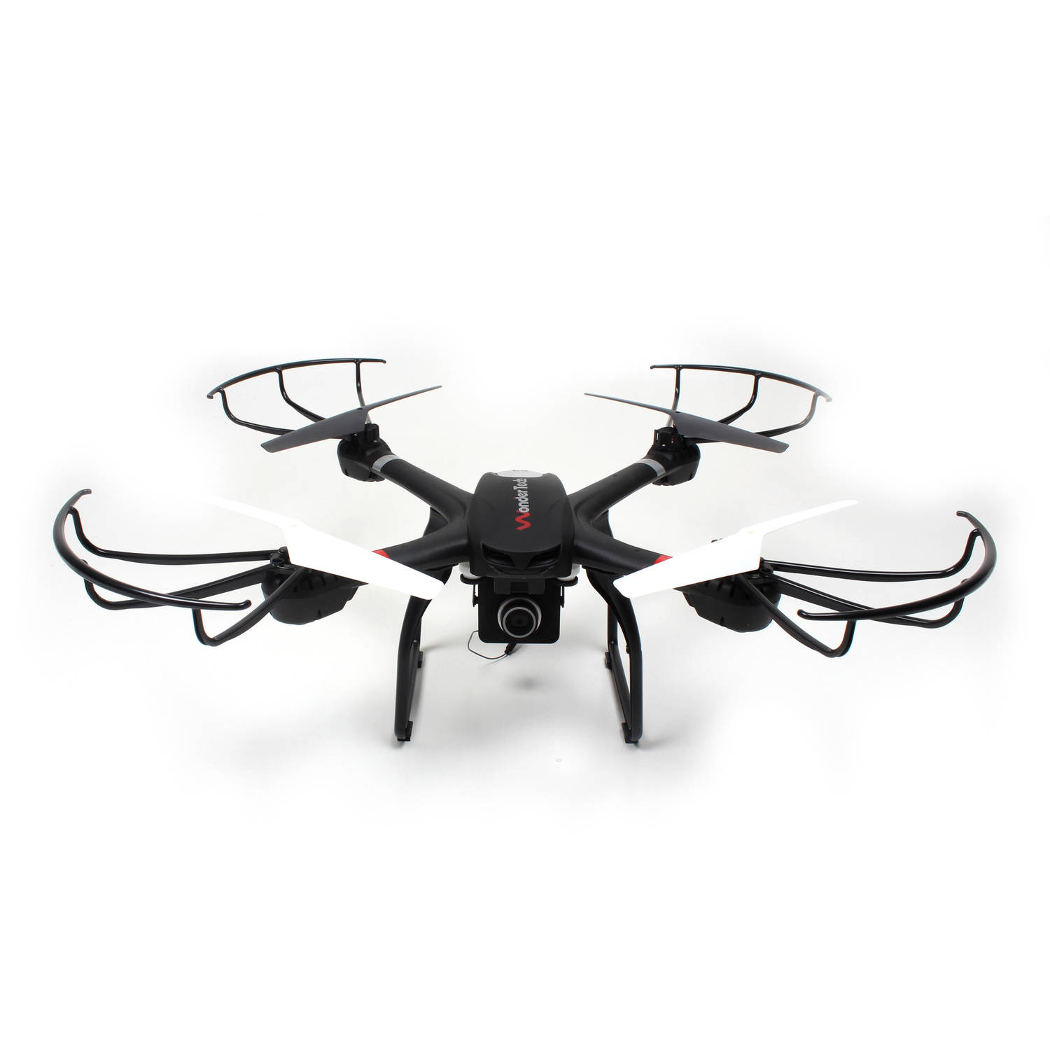 WonderTech Voyager 2.4GHz 6-Axis Gyro Drone Quadcopter with HD FPV Real Time Live Video Feed Camera, Black