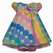 52eaed555 Bonnie Baby Girls Infant Multi Dot Birthday Dress, Multi 24 Months