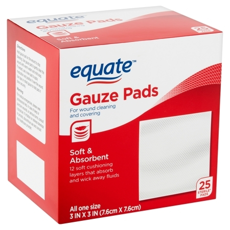 - Equate Gauze Pads, 25 count
