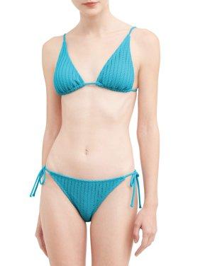 Juniors' Crochet Triangle Swimsuit Top
