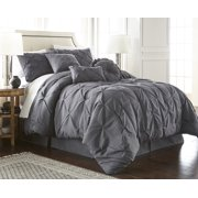 80658eab93 Chezmoi Collection Sydney 7-Piece Pintuck Pinched Pleated Comforter Set