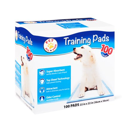 Pet All Star Training Pads, 22 in x 22 in, 100 Count (Puffy Pads)