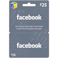 Facebook $25 eGift Card (Email Delivery)
