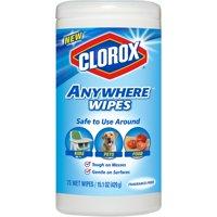 Clorox Anywhere Wipes, Bleach Free Cleaning Wipes - Fragrance-Free, 75 ct