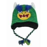 b9f86a0b1a80c Aquarius Boys Blue Monster Hat Peruvian Style Critter Trapper
