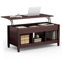 Deals on Costway Lift Top Coffee Table w/Hidden Storage Compartment