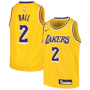6611ea02f728 Lonzo Ball Los Angeles Lakers Nike Youth Swingman Jersey Gold - Icon Edition