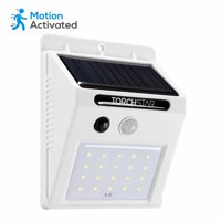 TORCHSTAR 20 LED 320LM Solar Powered Motion Sensor Lights, Wireless Outdoor Wall Lighting, White