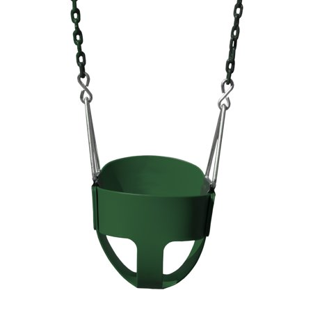 Gorilla Playsets Full Bucket Toddler Swing - Green with Green (Playset Swing)