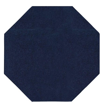Burgundy Ivory Rug - Bright House Solid Color Area Rugs navy - 4' Octagon