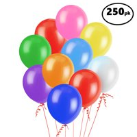 Latex Balloons, Assorted, 12in, 250ct
