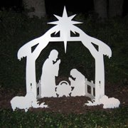 Teak Isle Outdoor Nativity Set | Weatherproof Outdoor Nativity Scene for Yards and Lawns