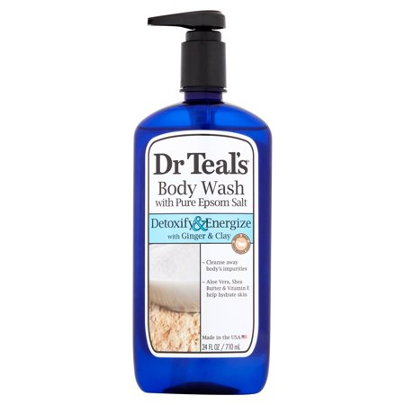 Ginger Mint Body - Dr Teal's Ultra Moisturizing Detoxify & Energize with Ginger & Clay Body Wash, 24 fl oz