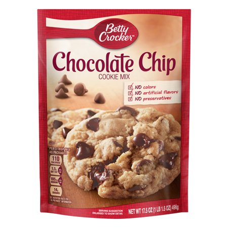 Betty Crocker Chocolate Chip Cookie ((2 pack) Betty Crocker Chocolate Chip Cookie Mix, 17.5)