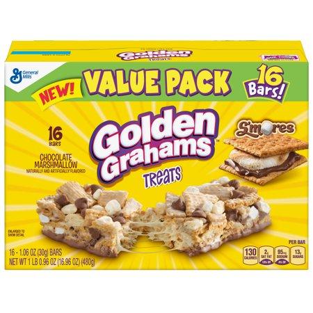 General Mills Cereal Bars - Golden Grahams S'mores Treat Bars 16 Count, 1.06 OZ
