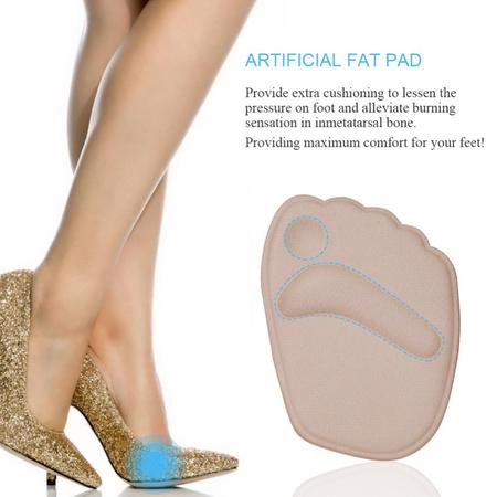 High Heel Insoles (Ymiko 2Pair Gel Cushion High Heel Shoes Inserts Insole Ball Foot Arch Care Support Pads)