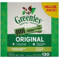 Greenies Teenie Original Dental Dog Treats (Various Counts)