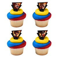 Incredibles 2 - Dynamic Family Cupcake Cake Rings Birthday Party Favors Cake Toppers 24 Count