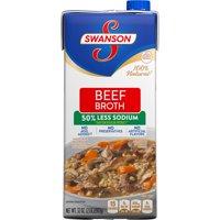 (6 Pack) Swanson 50% Less Sodium Beef Broth, 32 oz.