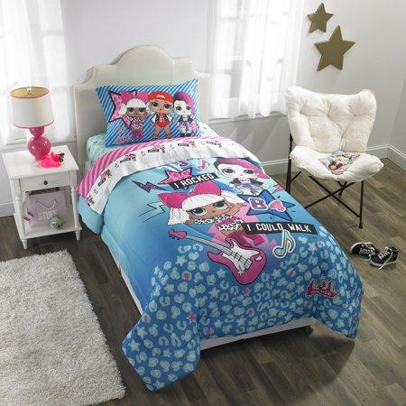 L O L Surprise Kids Bedding Bed In A Bag Set Blue Or