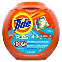 Tide PODS Liquid Laundry Detergent Pacs, Clean Breeze, 42 count