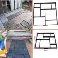 Garden Driveway Paving Pavement Mold Concrete Stepping Stone Path Walk Maker US