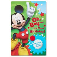 American Greetings Mickey Mouse Birthday Card for Boy with Memory Game