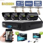 4CH 960H 1080P DVR Digital Video Recorder + 4 x 900TVL IR-CUT Night Vision Bullet Camera, Outdoor Indoor Waterproof Home Security Surveillance Camera System Kit
