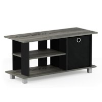 Furinno Simplistic TV Entertainment Center with Bin, Multiple Colors