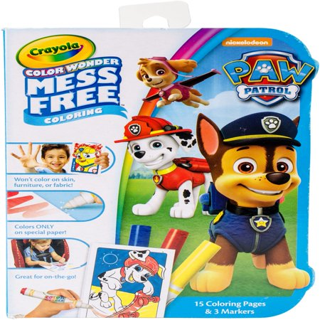 Crayola Color Wonder, Paw Patrol Mess Free Coloring Kit, 18 Pieces - Halloween Hard Coloring Pages