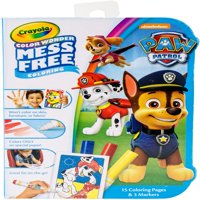 Crayola Color Wonder, Paw Patrol Mess Free Coloring Kit, 18 Pieces
