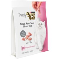 (2 Pack) Purina Fancy Feast Natural Hand-Flaked Salmon Cat Treats, 10 count, 1.06 oz