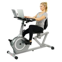 Sunny Health & Fitness SF-RBD4703 Recumbent Desk Exercise Bike with Adjustable Magnetic Resistance