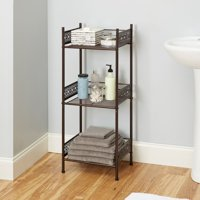 Chapter Filigree Bathroom Floor Shelf, Multiple Finishes