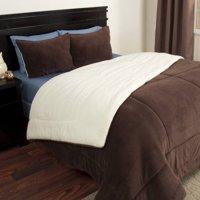 Somerset Home Sherpa/Fleece Bedding Comforter Set