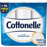 Cottonelle Clean Care, 12 Mega Rolls, Toilet Paper