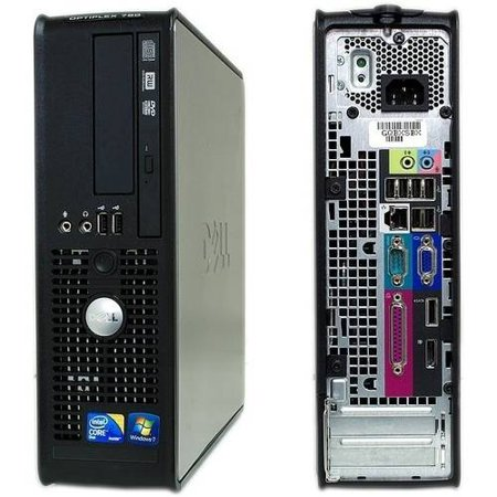 Refurbished Dell Optiplex 780 Small Form Factor Desktop PC with Intel Core 2 Duo Processor, 8GB Memory, 1TB Hard Drive and Windows 10 Pro (Monitor Not
