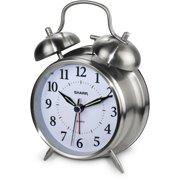 73bfbd94eff Sharp Twinbell Quartz Analog Alarm Clock