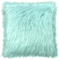 "Your Zone Flokati Decorative Throw Pillow, 16"" x 16"", Classic Mint- Available In Multiple Colors"
