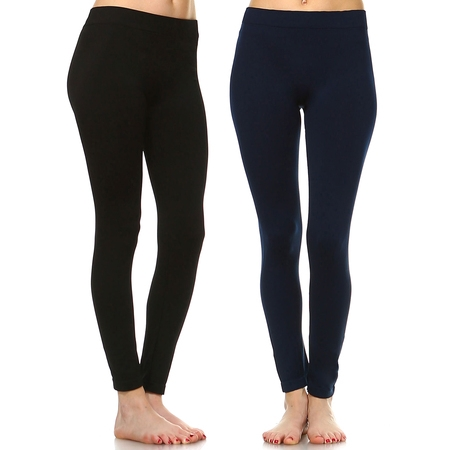Women's Pack of 2 Solid Leggings - Halloween Leggings Womens