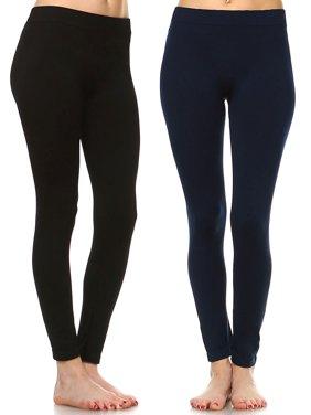 Women's Pack of 2 Solid Leggings