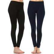 99a08a316fb49 Women's Pack of 2 Solid Leggings
